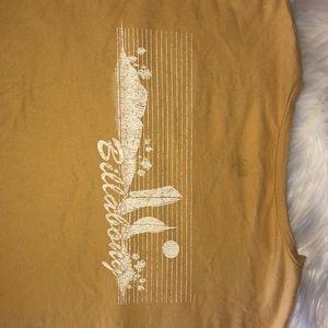 NEVER WORN Billabong cropped t-shirt